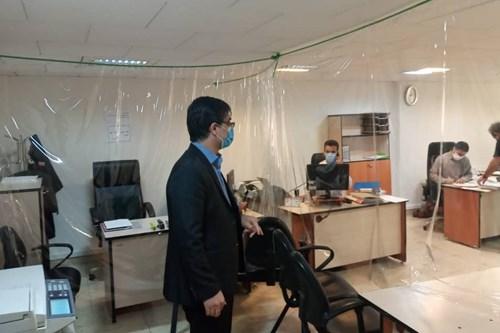 بازدید-کارشناس-مسئول-واحد-بهداشت-حرفه-ای-مرکز-بهداشت-جنوب-تهران-از-دفتر-مدیریت-منابع-انسانی-شهرداری-تهران