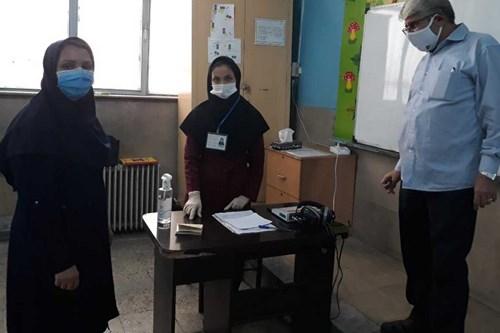 بازدید-کارشناس-مرکز-بهداشت-جنوب-تهران-از-پایگاه-های-سنجش-نوآموزان-اول-ابتدایی