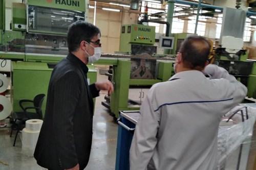 بازدید-و-نظارت-کارشناس-مسئول-واحد-بهداشت-حرفه-ای-مرکز-بهداشت-جنوب-تهران-از-کارخانه-های-مجتمع-دخانیات-تهران